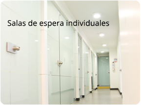 Salas de espera individuales en Clínicas de Salud Sexual Boston Medical Group Perú